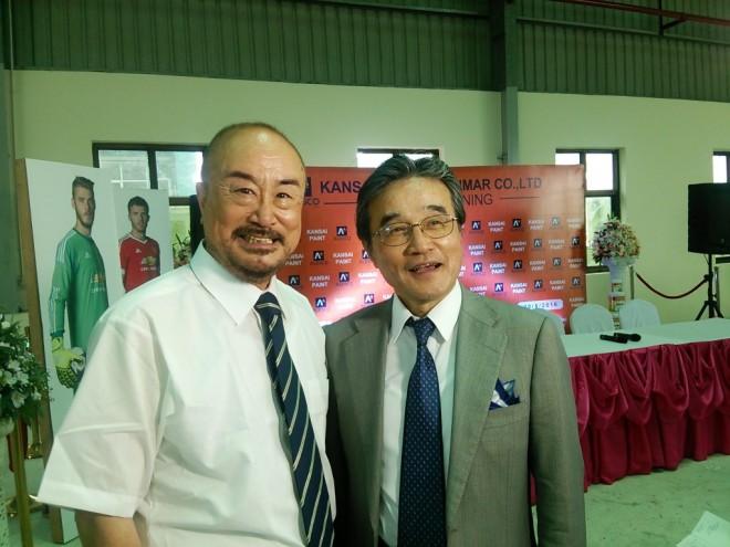 石野社長と全国建物調査診断センター・吉野理事長(左