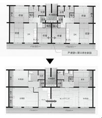 マンション再生マニュアル作成 2戸1住宅化で狭さ解消へ