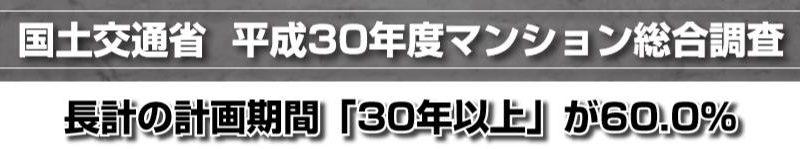 国土交通省  平成30年度マンション総合調査