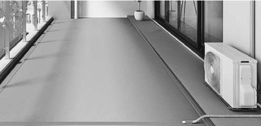 <商品紹介>長尺塩ビシート「お掃除らくらく」シリーズ 、防滑性・対候性に「清掃性」をプラス